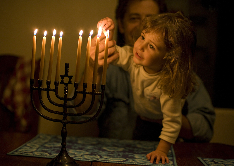 Samantha Jolles 2 is guided by her father David Jolles in  sc 1 st  Interior Design Styles - blogger & Lighting The Menorah ~ Interior Design Styles azcodes.com
